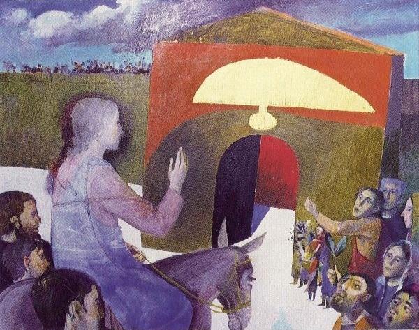 L'entrée à Jérusalem, Arcabas